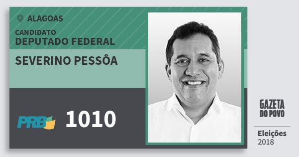 Santinho Severino Pessôa 1010 (PRB) Deputado Federal | Alagoas | Eleições 2018
