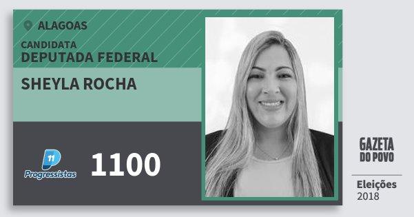 Santinho Sheyla Rocha 1100 (PP) Deputada Federal | Alagoas | Eleições 2018