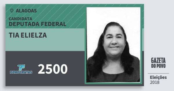 Santinho Tia Elielza 2500 (DEM) Deputada Federal | Alagoas | Eleições 2018