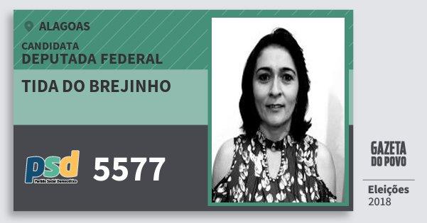 Santinho Tida do Brejinho 5577 (PSD) Deputada Federal | Alagoas | Eleições 2018
