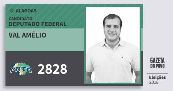 Santinho Val Amélio 2828 (PRTB) Deputado Federal | Alagoas | Eleições 2018