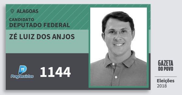 Santinho Zé Luiz dos Anjos 1144 (PP) Deputado Federal | Alagoas | Eleições 2018