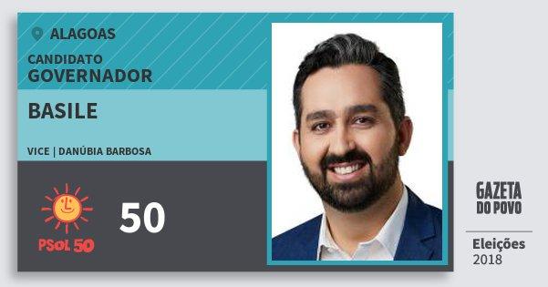 Santinho Basile 50 (PSOL) Governador | Alagoas | Eleições 2018