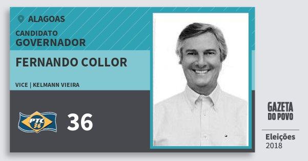 Santinho Fernando Collor 36 (PTC) Governador | Alagoas | Eleições 2018