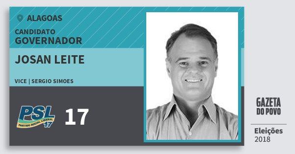 Santinho Josan Leite 17 (PSL) Governador | Alagoas | Eleições 2018