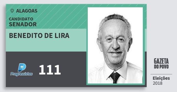 Santinho Benedito de Lira 111 (PP) Senador | Alagoas | Eleições 2018