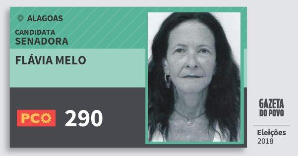 Santinho Flávia Melo 290 (PCO) Senadora | Alagoas | Eleições 2018