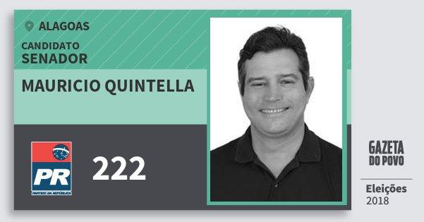 Santinho Mauricio Quintella 222 (PR) Senador | Alagoas | Eleições 2018