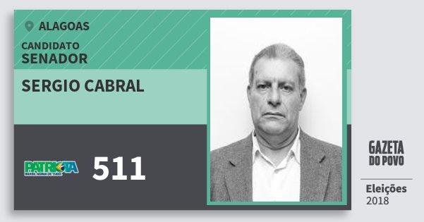 Santinho Sergio Cabral 511 (PATRI) Senador | Alagoas | Eleições 2018