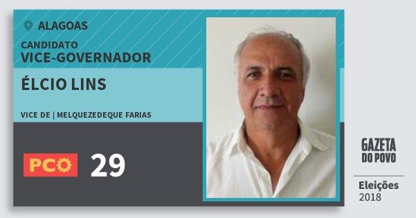 Santinho Élcio Lins 29 (PCO) Vice-governador | Alagoas | Eleições 2018