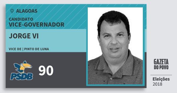 Santinho Jorge Vi 90 (PSDB) Vice-governador | Alagoas | Eleições 2018