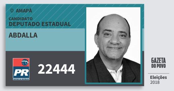 Santinho Abdalla 22444 (PR) Deputado Estadual | Amapá | Eleições 2018