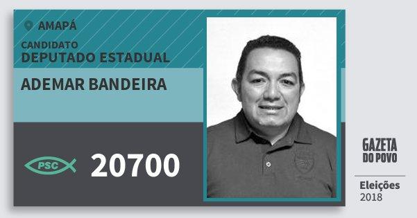Santinho Ademar Bandeira 20700 (PSC) Deputado Estadual | Amapá | Eleições 2018