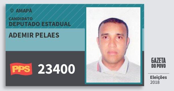 Santinho Ademir Pelaes 23400 (PPS) Deputado Estadual | Amapá | Eleições 2018
