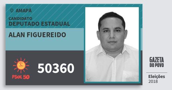 Santinho Alan Figuereido 50360 (PSOL) Deputado Estadual | Amapá | Eleições 2018