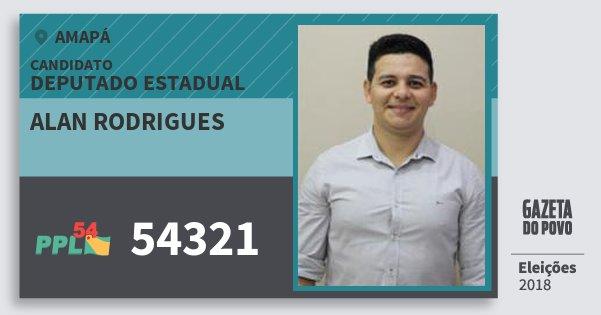 Santinho Alan Rodrigues 54321 (PPL) Deputado Estadual | Amapá | Eleições 2018