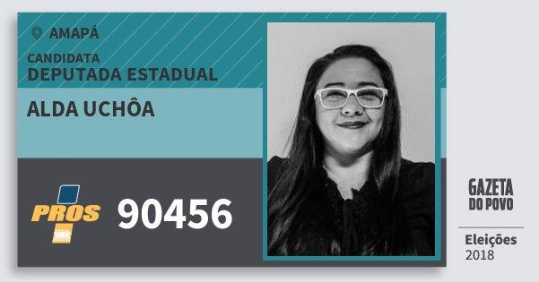 Santinho Alda Uchôa 90456 (PROS) Deputada Estadual | Amapá | Eleições 2018