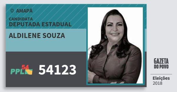Santinho Aldilene Souza 54123 (PPL) Deputada Estadual | Amapá | Eleições 2018