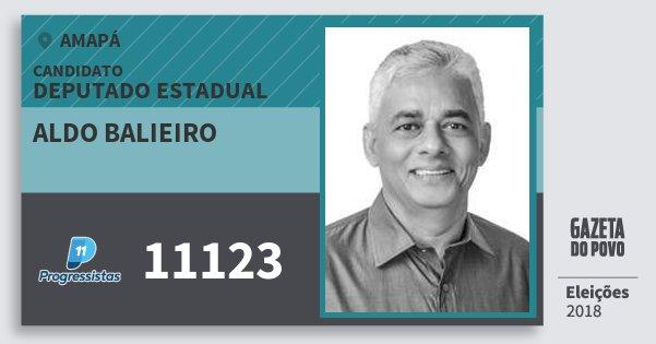 Santinho Aldo Balieiro 11123 (PP) Deputado Estadual | Amapá | Eleições 2018
