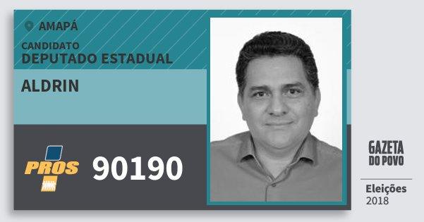 Santinho Aldrin 90190 (PROS) Deputado Estadual | Amapá | Eleições 2018