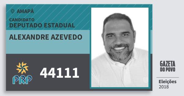 Santinho Alexandre Azevedo 44111 (PRP) Deputado Estadual | Amapá | Eleições 2018
