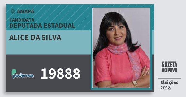Santinho Alice da Silva 19888 (PODE) Deputada Estadual | Amapá | Eleições 2018