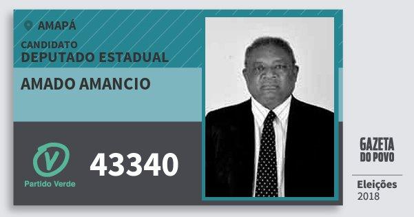 Santinho Amado Amancio 43340 (PV) Deputado Estadual | Amapá | Eleições 2018
