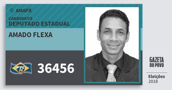 Santinho Amado Flexa 36456 (PTC) Deputado Estadual | Amapá | Eleições 2018