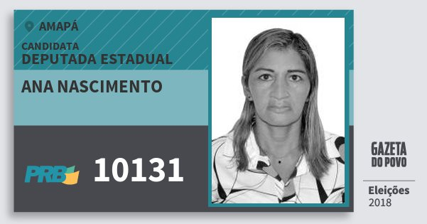 Santinho Ana Nascimento 10131 (PRB) Deputada Estadual   Amapá   Eleições 2018