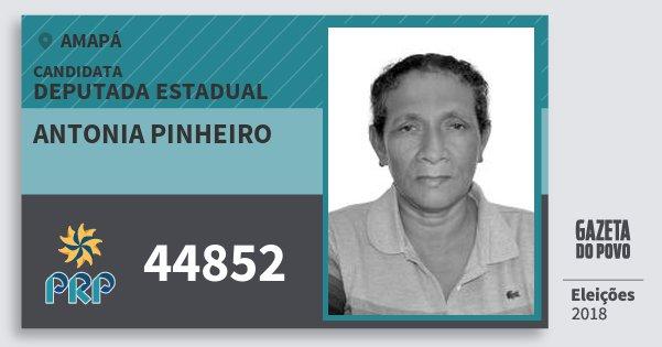 Santinho Antonia Pinheiro 44852 (PRP) Deputada Estadual | Amapá | Eleições 2018