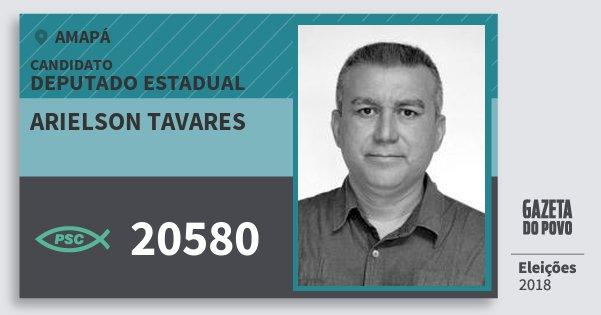 Santinho Arielson Tavares 20580 (PSC) Deputado Estadual | Amapá | Eleições 2018