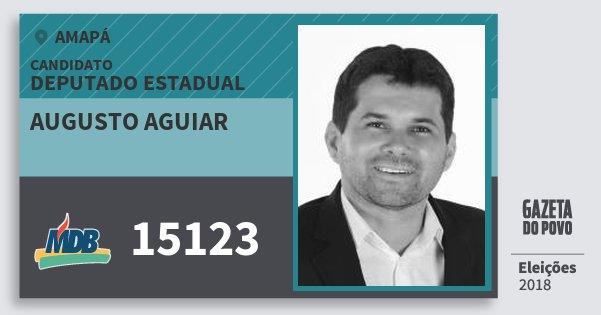 Santinho Augusto Aguiar 15123 (MDB) Deputado Estadual | Amapá | Eleições 2018