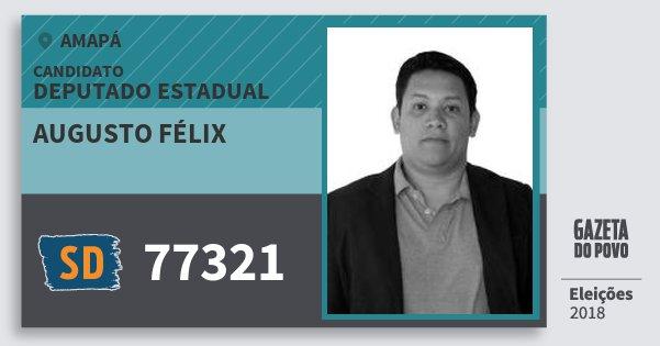 Santinho Augusto Félix 77321 (SOLIDARIEDADE) Deputado Estadual | Amapá | Eleições 2018