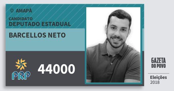 Santinho Barcellos Neto 44000 (PRP) Deputado Estadual | Amapá | Eleições 2018
