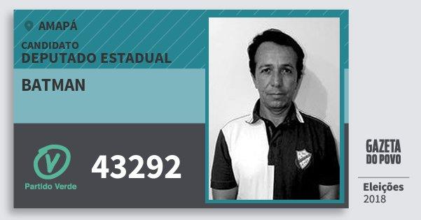 Santinho Batman 43292 (PV) Deputado Estadual | Amapá | Eleições 2018