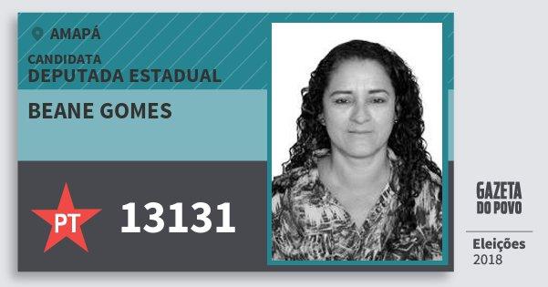 Santinho Beane Gomes 13131 (PT) Deputada Estadual | Amapá | Eleições 2018