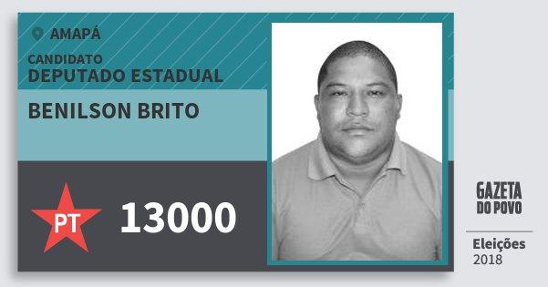 Santinho Benilson Brito 13000 (PT) Deputado Estadual | Amapá | Eleições 2018