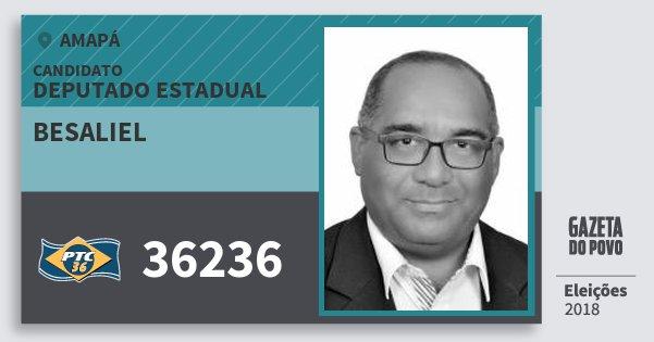 Santinho Besaliel 36236 (PTC) Deputado Estadual | Amapá | Eleições 2018