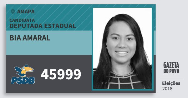 Santinho Bia Amaral 45999 (PSDB) Deputada Estadual | Amapá | Eleições 2018