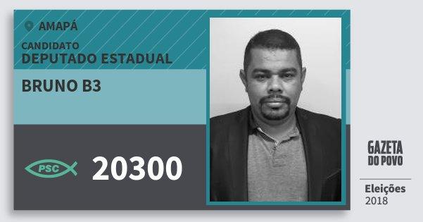 Santinho Bruno B3 20300 (PSC) Deputado Estadual | Amapá | Eleições 2018