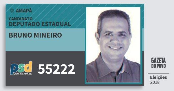 Santinho Bruno Mineiro 55222 (PSD) Deputado Estadual | Amapá | Eleições 2018