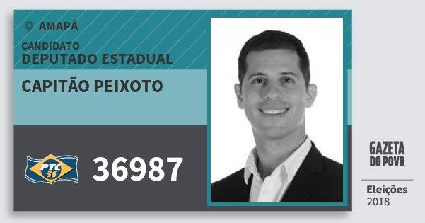 Santinho Capitão Peixoto 36987 (PTC) Deputado Estadual | Amapá | Eleições 2018