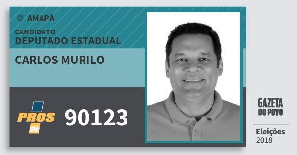 Santinho Carlos Murilo 90123 (PROS) Deputado Estadual | Amapá | Eleições 2018