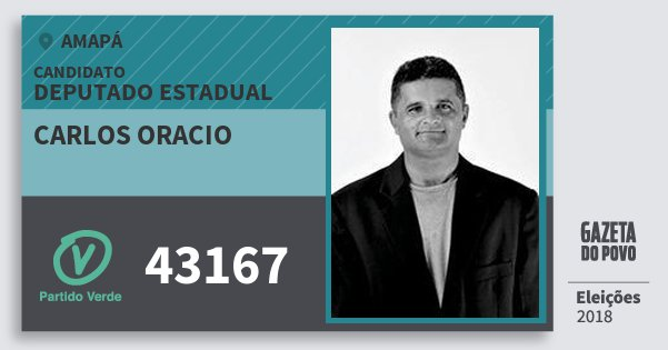Santinho Carlos Oracio 43167 (PV) Deputado Estadual | Amapá | Eleições 2018