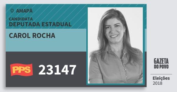 Santinho Carol Rocha 23147 (PPS) Deputada Estadual | Amapá | Eleições 2018
