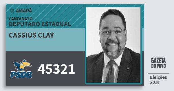 Santinho Cassius Clay 45321 (PSDB) Deputado Estadual | Amapá | Eleições 2018