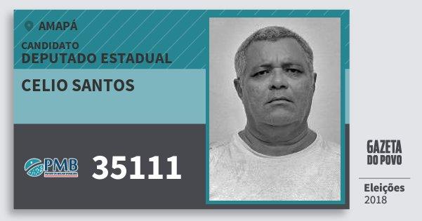 Santinho Celio Santos 35111 (PMB) Deputado Estadual | Amapá | Eleições 2018