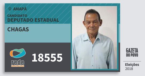 Santinho Chagas 18555 (REDE) Deputado Estadual | Amapá | Eleições 2018