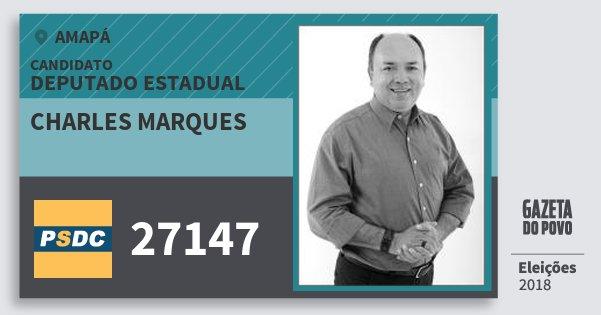 Santinho Charles Marques 27147 (DC) Deputado Estadual | Amapá | Eleições 2018