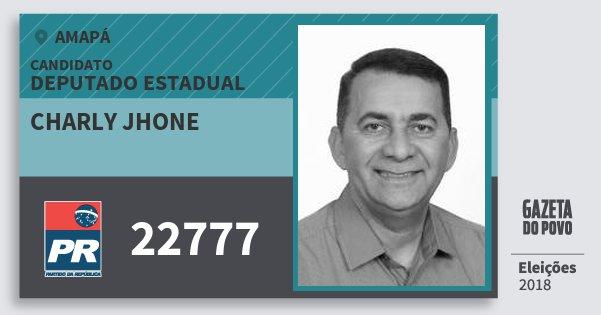 Santinho Charly Jhone 22777 (PR) Deputado Estadual | Amapá | Eleições 2018